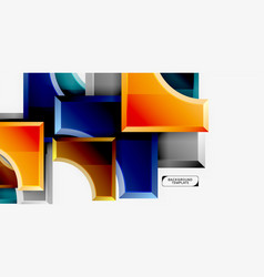 3d futuristic shapes abstract background vector image