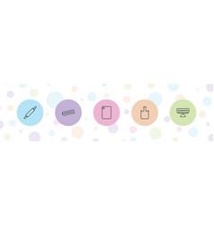 5 preparation icons vector