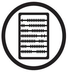 Abacus icon black vector image