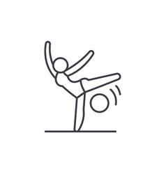 acrobatics line icon concept acrobatics vector image