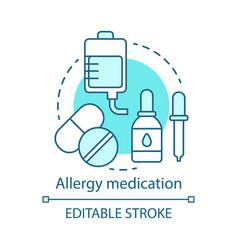 Allergy medication concept icon antihistamine vector