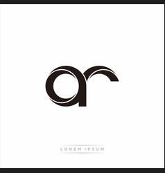 Ar initial letter split lowercase modern monogram vector