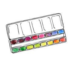 art palette with paints vector image