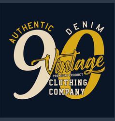 Authentic denim vintage vector