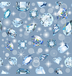 background seamless shiny gems different cuts vector image