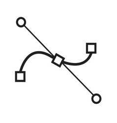 Bezier curve tool icon design vector