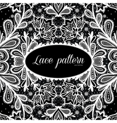 Black and white lace design vector