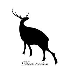 Black deer logo scene vector