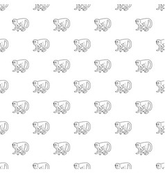 capuchin pattern seamless vector image