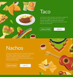 cartoon mexican food web banner vector image