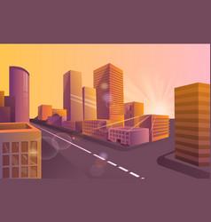 colorful poster futuristic night city vector image
