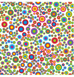 colorful psychedelic circles vector image