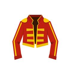 Costume toreador icon flat style vector
