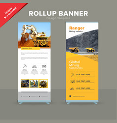 Creative rollup banner design template vector
