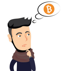 cryptocurrency concept idea to buy bitcoin vector image