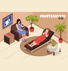 Depression and professional help background vector