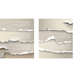 design elements torn paper vector image vector image