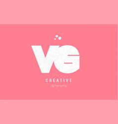 design of alphabet letter logo combination vector image