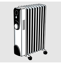 Electric heater vector image vector image