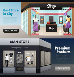 Fashion store front banners vector