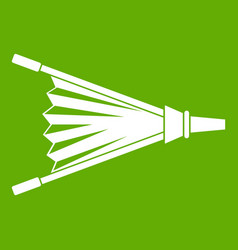 fire bellows icon green vector image