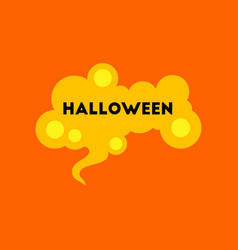 Flat icon on background halloween sign vector