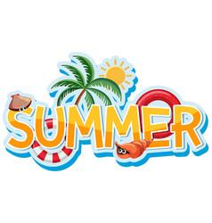 Font design for word summer vector