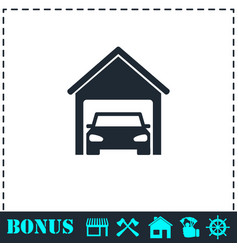garage car icon flat vector image