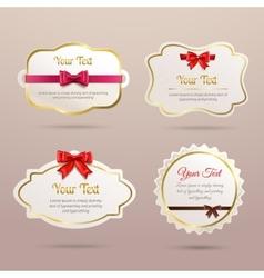 Gift labels set vector image