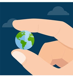 Global In Hand vector image
