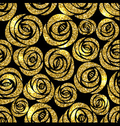 Golden glitter texture with hand draw black vector