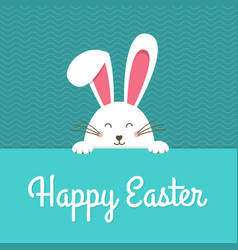happy easter card with rabbit ears easter rabbit vector image