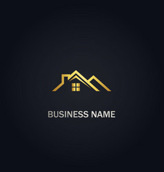 home rorealty gold logo vector image