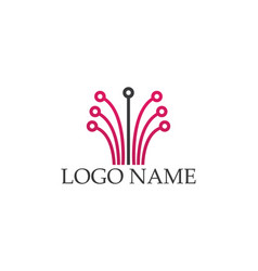 Internet cable logo and symbols template icons app vector