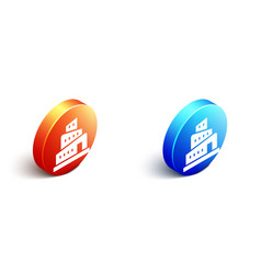 Isometric babel tower bible story icon isolated vector