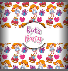 kids party background vector image