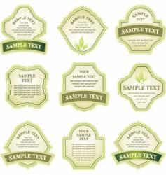 label copy space vector image vector image
