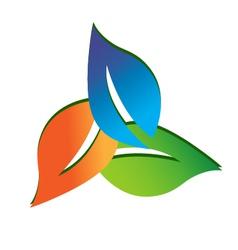 Leaves logo vector