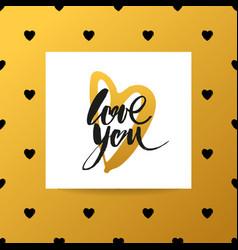 love lettering background vector image