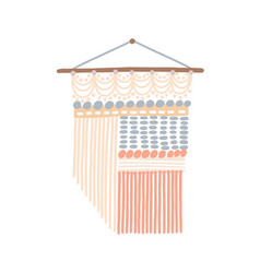 macrame design wall hanging vector image