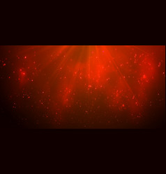 Magic red lights on blue background bokeh effect vector