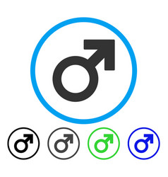 Male symbol rounded icon vector