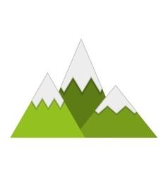 Mountains ice green icon vector