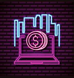 neon video games vector image