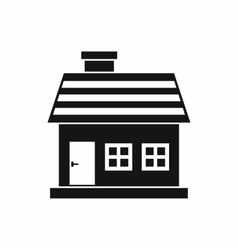 One-storey house icon simple style vector