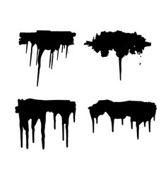 Paint blob ink splatter drop black liquid splash vector