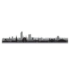 pakistan city karachi skyline view with famous vector image