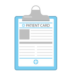 Patient card icon flat style vector