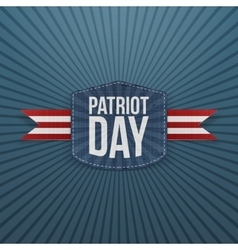 Patriot day realistic badge with ribbon vector