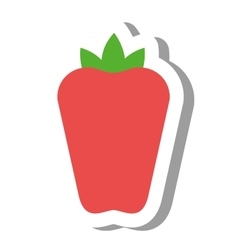 Pepper vegetable healthy icon vector